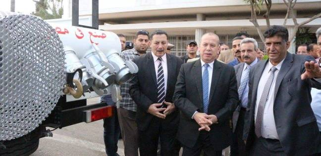 بالصور| محافظ دمياط يستعرض معدات شركة مياه الشرب والصرف الصحي