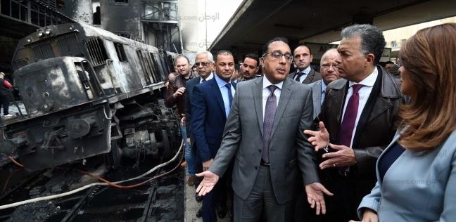 غادة والي تعرض على رئيس الوزراء مستجدات حادث قطار محطة مصر