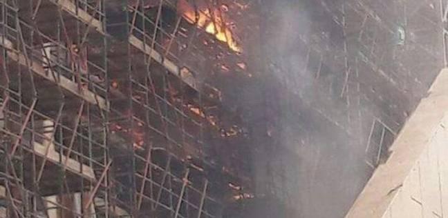 إخماد حريق في محطة كهرباء برقاش بالجيزة
