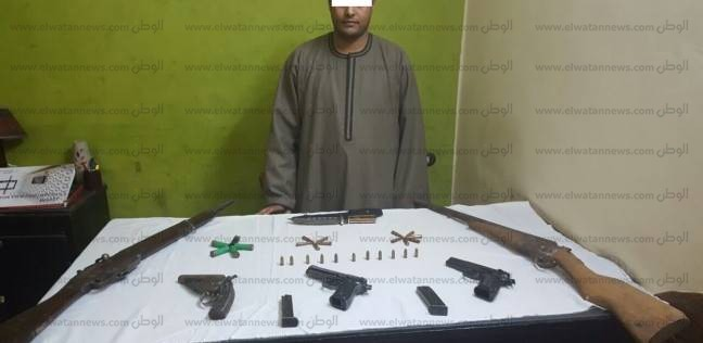 ضبط 20 قطعة سلاح و7 قضايا اتجار بالمخدرات في المنيا