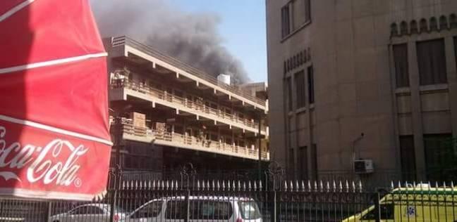 """أول صور لحريق مستشفى الحسين.. والمعاينة: السبب ماس كهربائي بـ""""تكييف"""""""