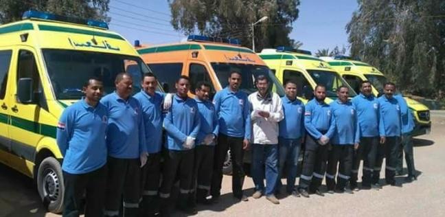 الدفع بـ74 سيارة إسعاف بمحيط لجان الاستفتاء على الدستور بالوادي الجديد