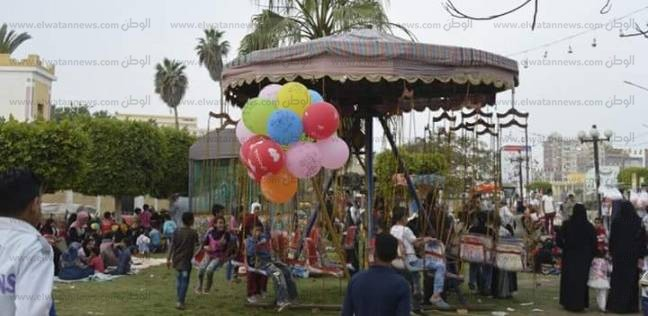 بالصور| مواطنون يقضون ثالث أيام العيد في حديقة صنعاء بكفر الشيخ