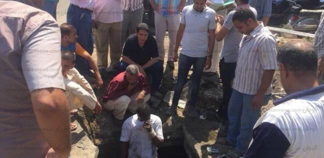 """إعادة ضخ المياه بمدينة بني سويف بعد إصلاح كسر في """"غرفة محابس"""""""