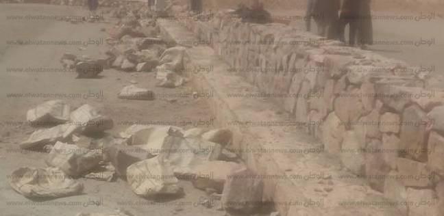 بالصور  بدء مشروع تطوير مدخل دير سانت كاترين بجنوب سيناء