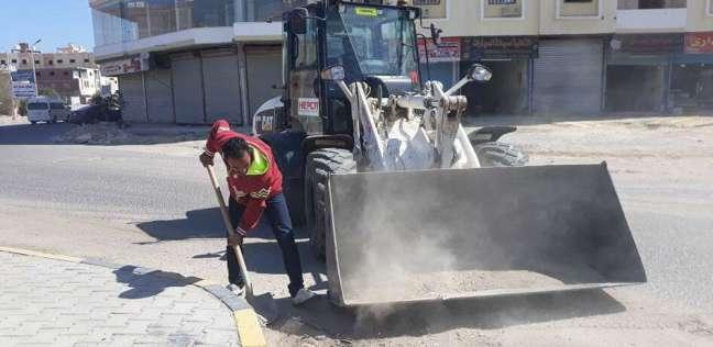 مجلس مدينة الغردقة يقود حملة نظافة بشوارع المدينة