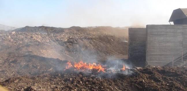 اشتعال الحرائق ذاتياً فى 5 آلاف طن مخلفات بمصنع تدوير القمامة بـ«الشهداء»