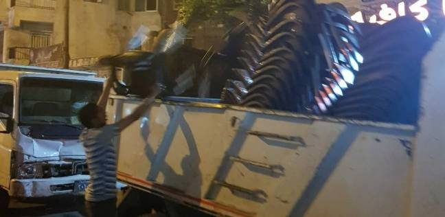 حملة لرفع تعديات الطريق العام بحي منتزه ثان