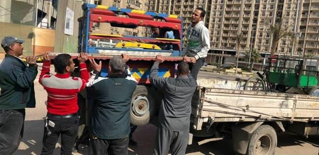 تحرير محاضر ضد باعة أغلقوا شارع مدينة في قنا