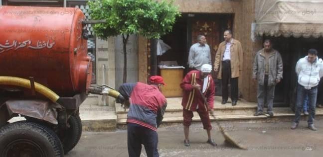 تجدد سقوط الأمطار بشمال سيناء