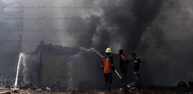 السيطرة على حريق هائل نشب بكمية من الأحطاب في الباجور بالمنوفية
