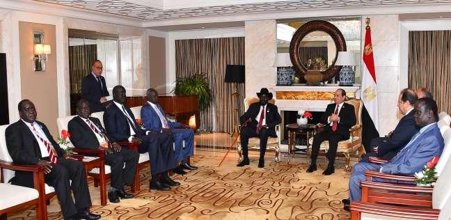 السيسي لرئيس جنوب السودان: مصر ستواصل مساندة جهود التنمية في بلادكم