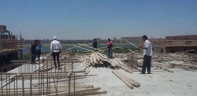 إيقاف إنشاء 3 أبراج سكنية مخالفة في أبو فليو بالمنيا