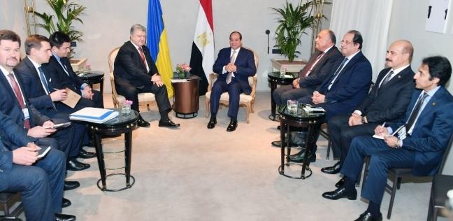 السيسي يناقش سبل التعاون مع رئيس أوكرانيا على هامش مؤتمر ميونيخ للأمن