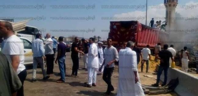 مصرع شخص وإصابة أخر في حادث تصادم بمركز أشمون في المنوفية