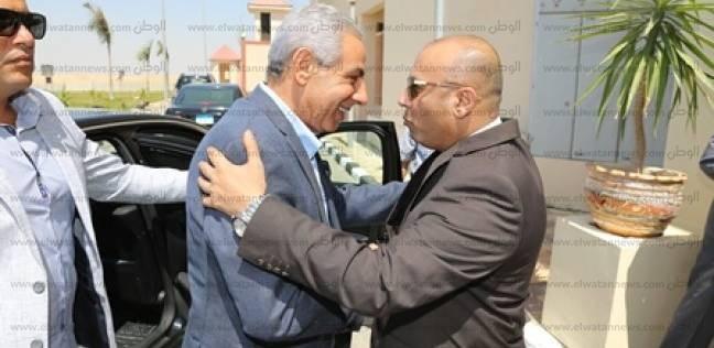 محافظ المنوفية يستقبل وزير التجارة والصناعة بمجمع الخدمات بالسادات
