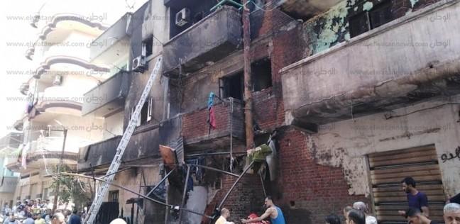حوادث   حريق هائل في شقة بمصر الجديدة