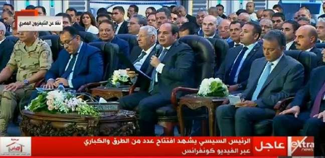 السيسي: القوات المسلحة تساهم في المشروعات لأنها جزء من الدولة المصرية