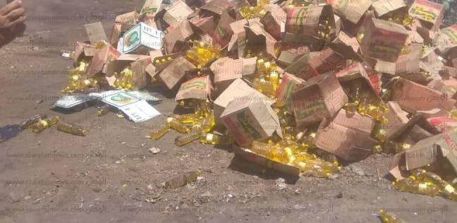 ضبط 600 زجاجة زيت طعام مغشوش خلال حملة في سوهاج