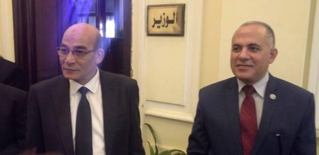 وزير الزراعة الجديد يستقبل وزير الموارد المائية والري