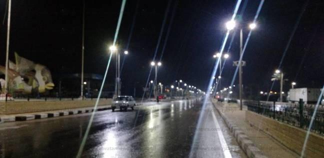 أمطار متوسطة على أغلب مراكز محافظة بني سويف