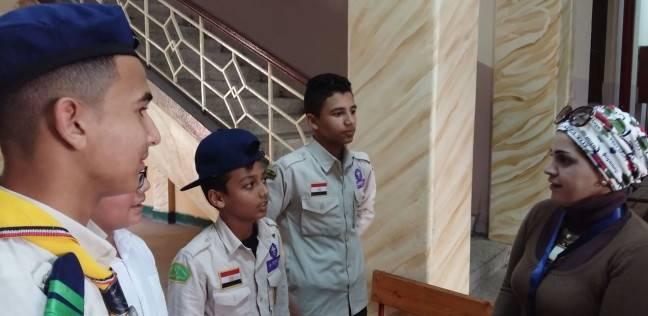 """يوسف وأصدقائه """"طلاب بلا صوت"""" حضروا بزي الكشافة للمشاركة في الانتخابات"""