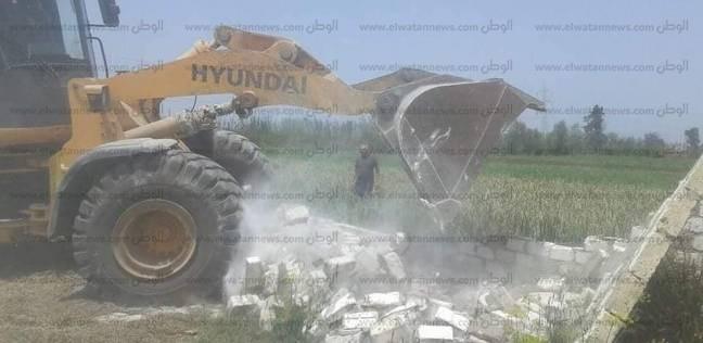 إزالة 12 حالة تعدي على أراضي وأملاك الدولة والزراعة في سمنود