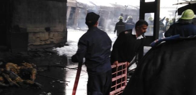 """إخماد حريق في """"مصنع تنر"""" بأبورواش بعد الدفع بـ11 سيارة إطفاء"""