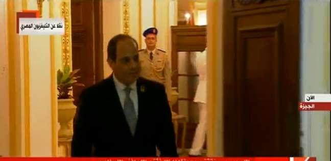 السيسي يصل قبة جامعة القاهرة لافتتاح المؤتمر السادس للشباب