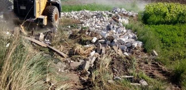 """وكيل """"زراعة المنوفية"""": إزالة 131 حالة تعدِ على الأراضي الزراعية"""