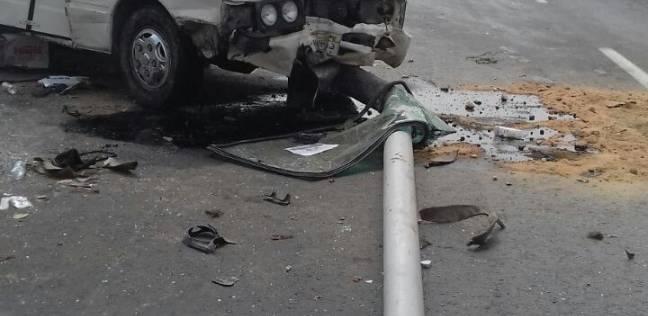 إصابة 7 أشخاص في انقلاب سيارة على طريق شبين الكوم مدينة السادات