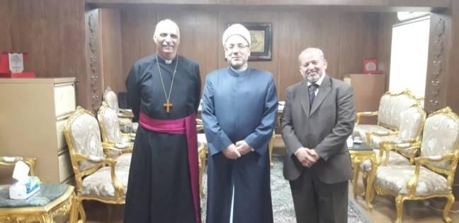 """أمين """"البحوث الإسلامية"""" يستقبل وفداً من الكنيسة للتهنئة بعيد الأضحى"""