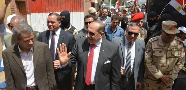 مساعد وزير الدفاع ومحافظ سوهاج يتفقدان سير الانتخابات الرئاسية
