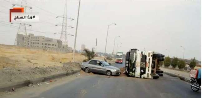 مصرع شخص وإصابة 3 في حادث انقلاب سيارة ملاكي بقنا