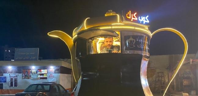 إسلام بائع شاى كرك في شوارع المنصورة تصوير سمير وحيد