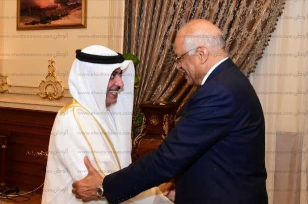 بالصور| رئيس البرلمان يستقبل أمين عام مجلس النواب البحريني لتطوير العلاقات