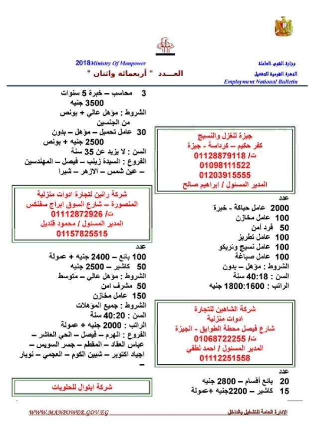 مرتبات تصل لـ 8 الآف جنيه.. الحكومة تعلن عن 11 ألف وظيفة شاغرة للشباب بمختلف المؤهلات 8