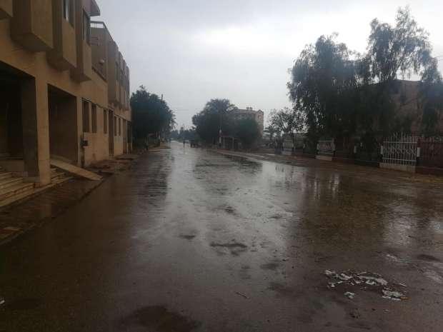 هطول أمطار غزيرة على بني سويف
