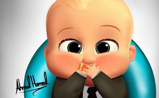بالصور  The boss baby.. صعيدي وبالطربوش على فيس بوك