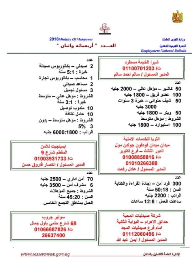 مرتبات تصل لـ 8 الآف جنيه.. الحكومة تعلن عن 11 ألف وظيفة شاغرة للشباب بمختلف المؤهلات 9