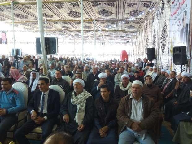 أهالي صان الحجر يقيمون مؤتمرا جماهيريا حاشدا لتأييد السيسي