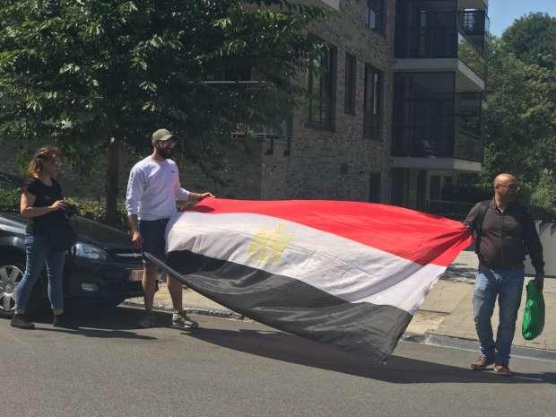 بالصور| المصريون في بروكسيل يحتفلون بالذكرى الخامسة لثورة 30 يونيو