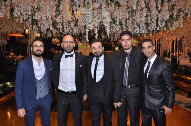 فرح الفنان تامر عاشور وسمر أبو شقة بأحد فنادق القاهرة