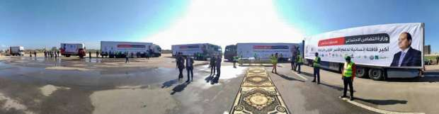 كفر الشيخ تستقبل أكبر قافلة إنسانية من صندوق تحيا مصر
