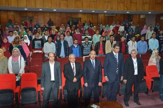 """بالصور  انطلاق فعاليات مؤتمر """"التأهيل من أجل التوظيف"""" بجامعة الفيوم"""