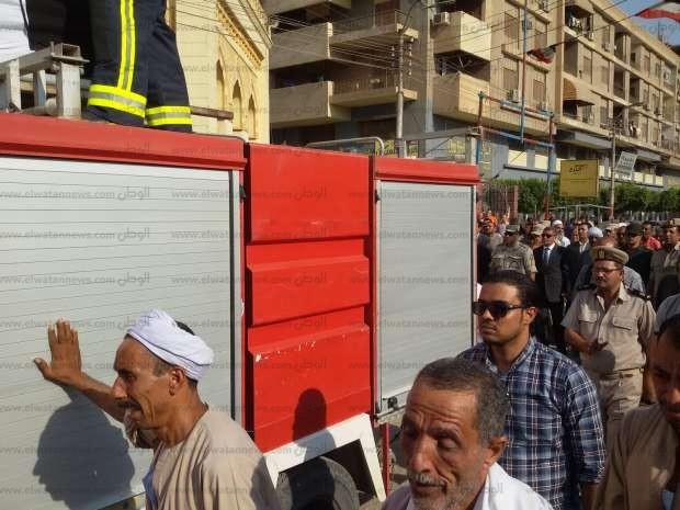 جنازة عسكرية لشهيد القوات المسلحة المجند ضياء رمضان ببني سويف