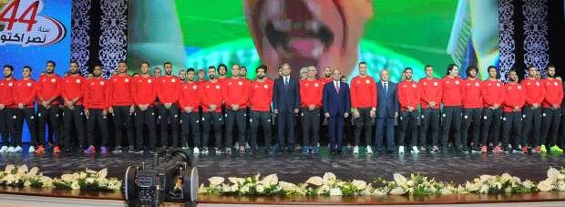 الرئيس السيسي يكرم أعضاء منتخب مصر بعد التأهل للمونديال