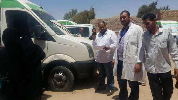 بالصور| الكشف على ألف مريض في قافلة طبية مجانية ببني سويف