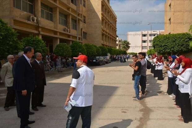 نائب رئيس جامعة الزقازيق يشهد حفل استقبال الطلاب في كلية التكنولوجيا