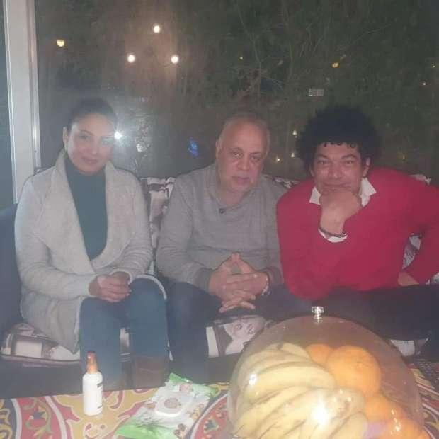 جلسة صلح بمنزل أشرف زكي تنهي خلاف باسم سمرة ورحاب الجمل «صور» - فن وثقافة -  الوطن